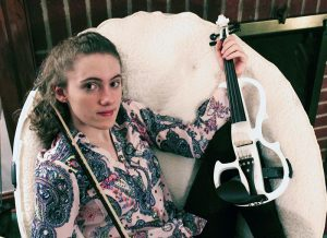 Annie and her violin